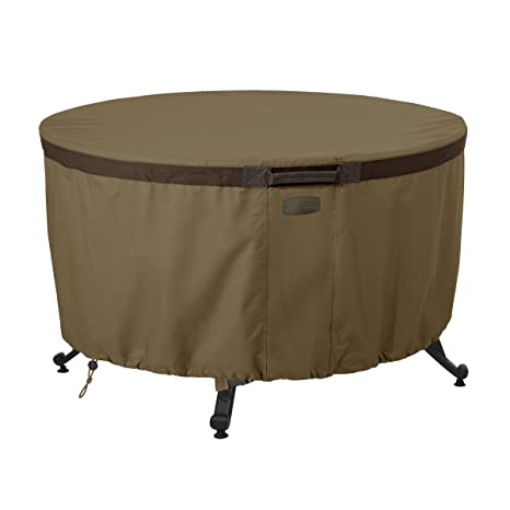 Amazon Com Classic Accessories Hickory Round Fire Table Cover