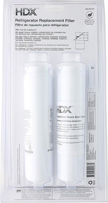 Filtro / purificador de agua de repuesto HDX FMM-2 para refrigeradores Whirlpool (paquete de 2): Amazon.es: Grandes electrodomésticos