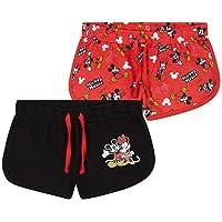 Disney Pantalon Corto Niña, Pack De 2 Pantalones Cortos de Mickey y Minnie Mouse, Ropa Niña de Algodón, Regalos para…