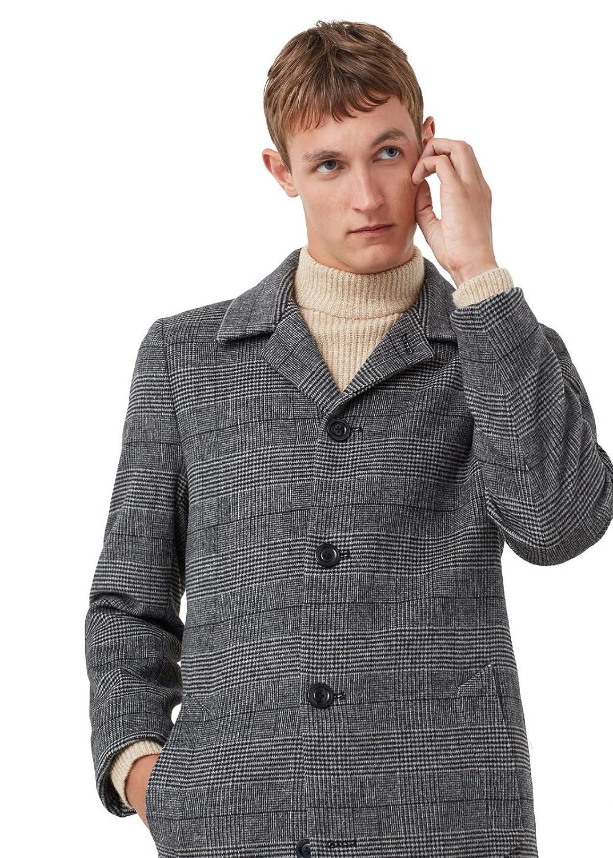 MANGO MAN - Prince of wales wool-blend coat - Size:L - Color:Grey
