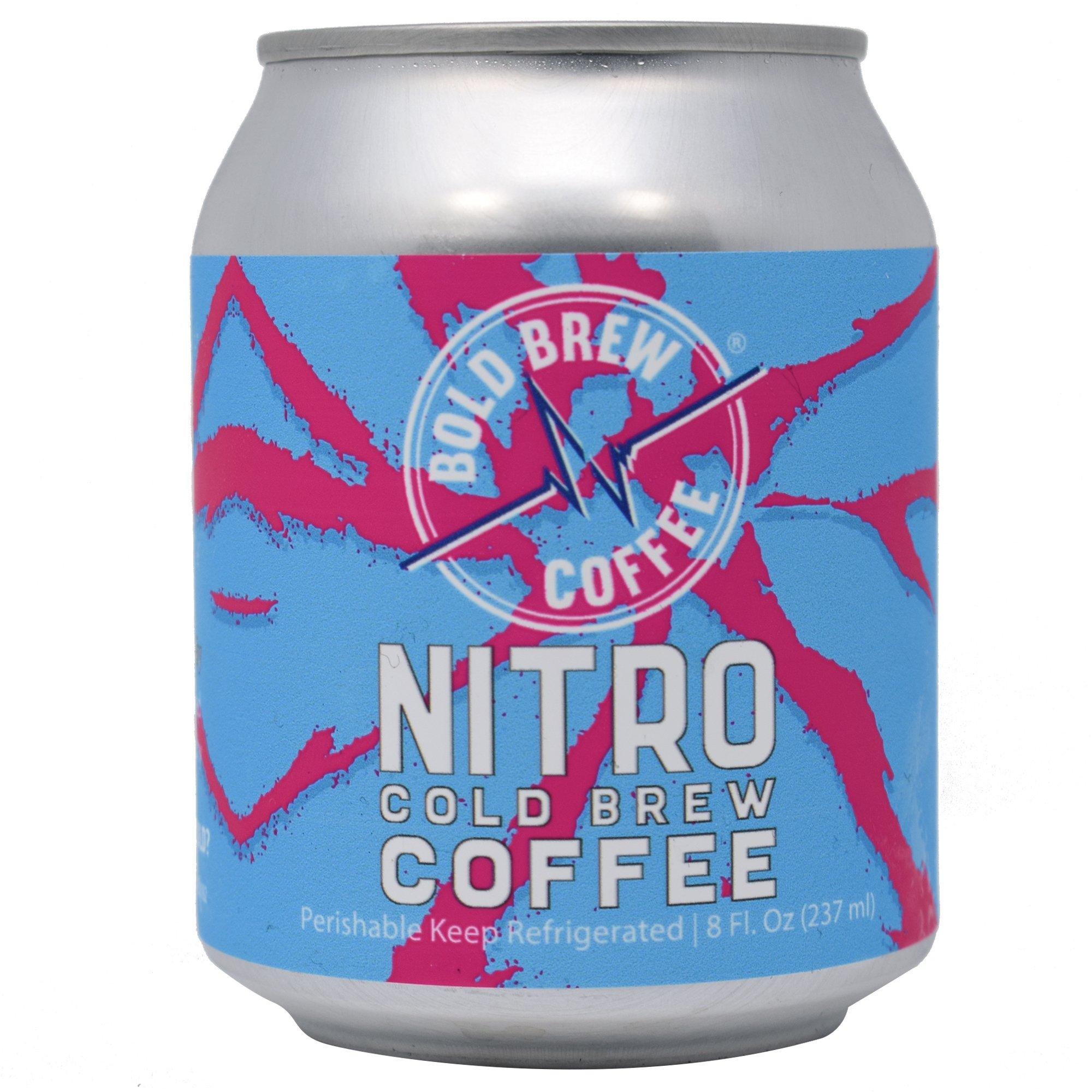 Nitro Cold Brew Coffee - Bold Brew Coffee, Single-Origin Colombian Coffee   Natural Energy   Sugar, Gluten & Dairy Free, 0 Calories, 180 MG Caffeine   8oz Can - (6 Pack)