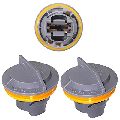 APDTY 034145 Tail Lamp Light Bulb Plastic Socket Holder Pack Of 3 Fits Rear Left or Right Turn Signal Brake or Reverse Light For Chrysler Plymouth Dodge Jeep (Taillight 3-Pack, Replaces 4676589): Automotive