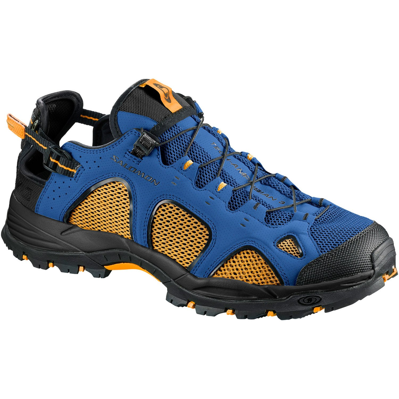 Salomon Techamphibian 3, Stivali da Escursionismo Uomo, Giallo (Bright Marigold/Nautical Blue/Black 000), 48 EU