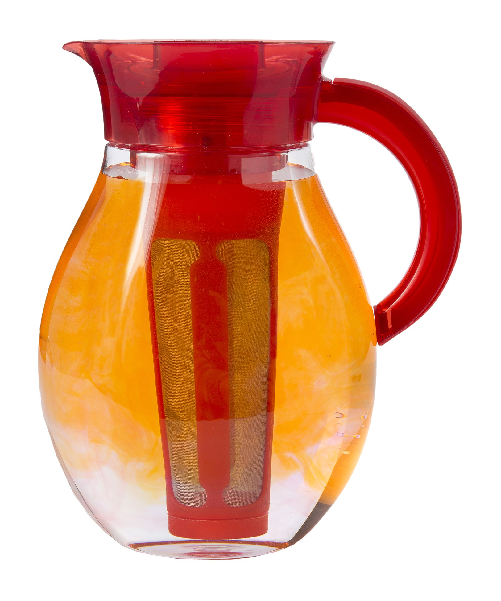 Primula The Big Iced Tea Maker - 1 Gallon Beverage Pitcher, Red