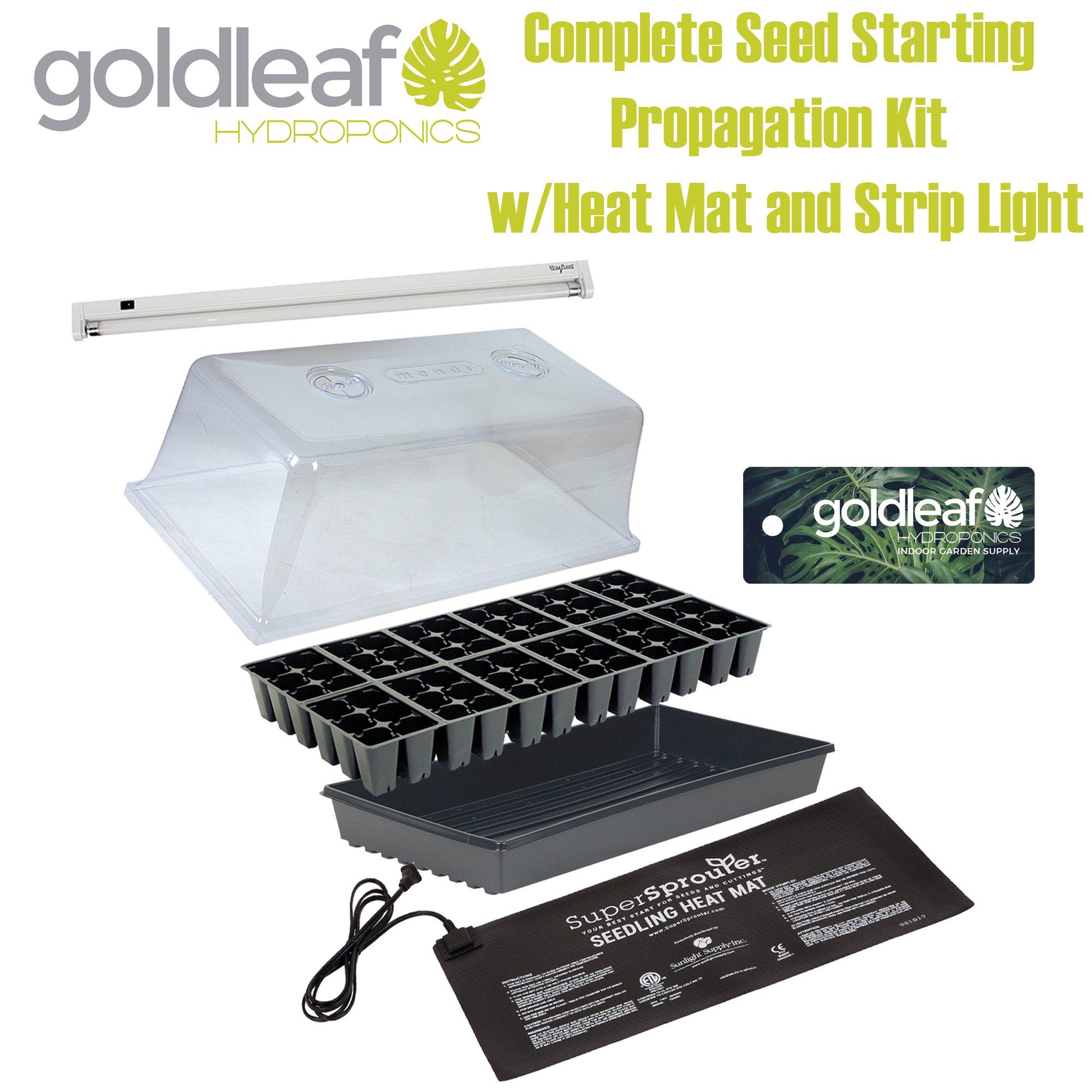 Complete Seed Starting Propagation Kit w/ Heat Mat, T5 Light, Humidity dome +
