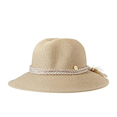4540c31ed6b Seafolly Shady Lady Collapsible Fedora Hat One Size Gold  Amazon.co ...