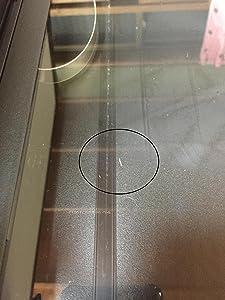 スキャナー画面の内側にゴミが付いていた。