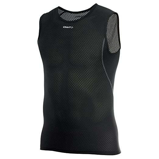 69533ec702df5 Craft Cool Mens Mesh Superlight Sleeveless Sports Base Layer (S) (Black)