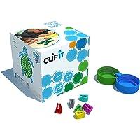 CLIP IT - Jeu d'assemblage créatif, éducatif et Durable, 90% surcyclé ! Boite de 400 Clips pour Un Atelier de 10 Enfants Environ