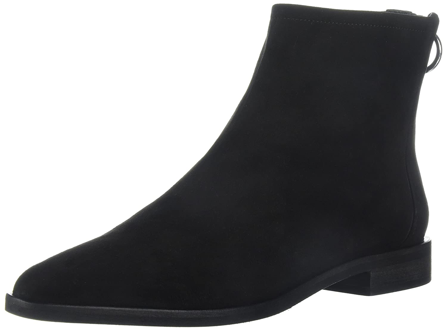 Via Spiga Women's Edie Ankle Boot B074CYG5YQ 7 B(M) US|Black Suede