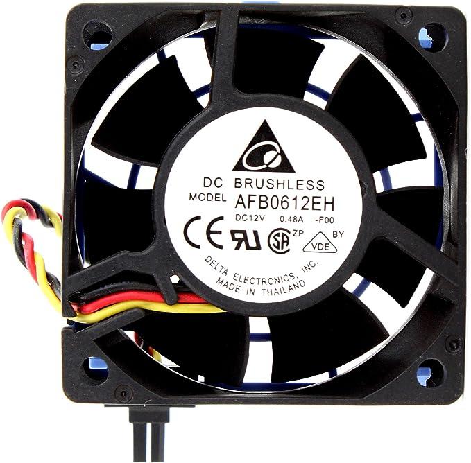 Delta Electronics AFB0812SH-F00 80x80x25mm Cooling Fan 0.51 Amp. 4000 RPM 46.62 CFM 40 dBA 12VDC 3-pin TAC connector