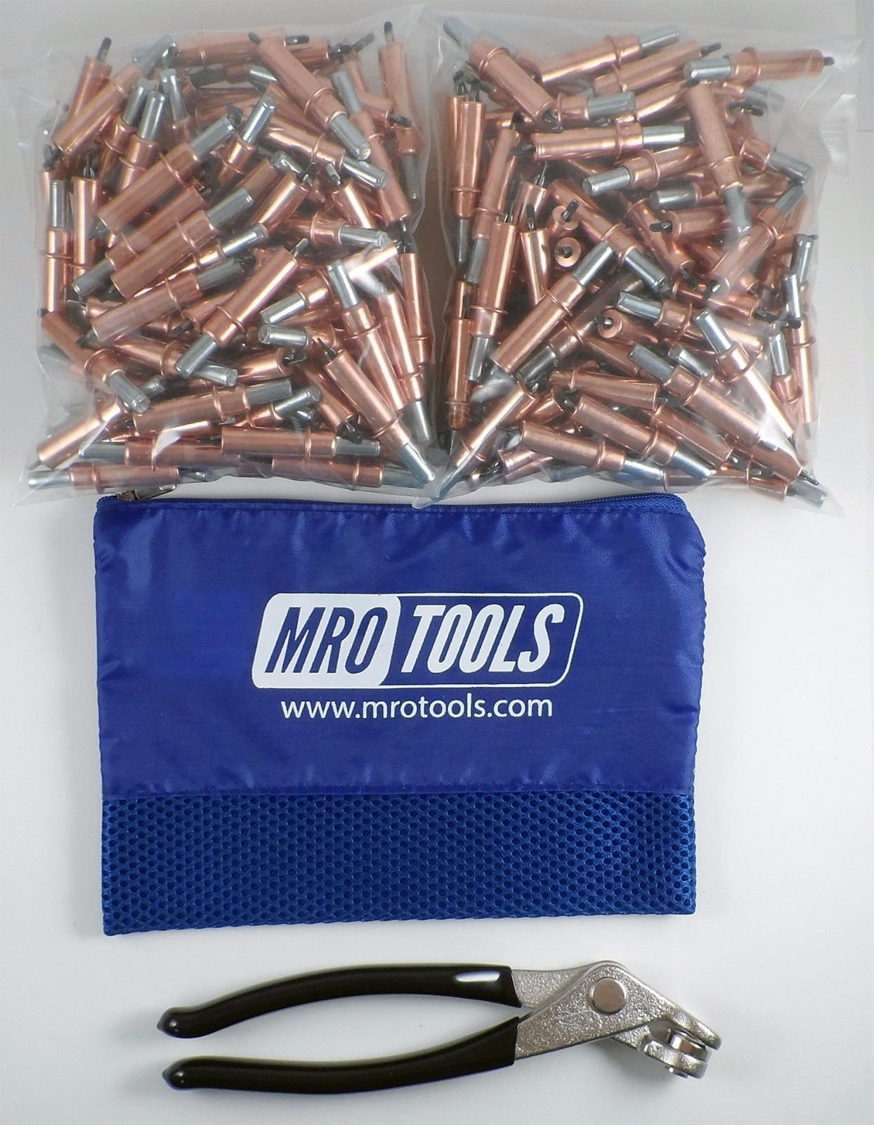 250 1/8 Cleco Sheet Metal Fasteners + Cleco Pliers w/ Carry Bag (K1S250-1/8) by MRO Tools Cleco Fasteners