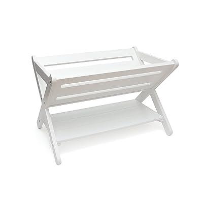 Lipper International Kids' Book Caddy with Shelf, White: Kitchen & Dining