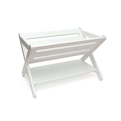 Lipper International 522W Kids' Book Caddy with Shelf, White