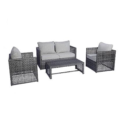 Excellent Amazon Com Wo Westin Outdoor Siesta 4 Piece Wicker All Squirreltailoven Fun Painted Chair Ideas Images Squirreltailovenorg