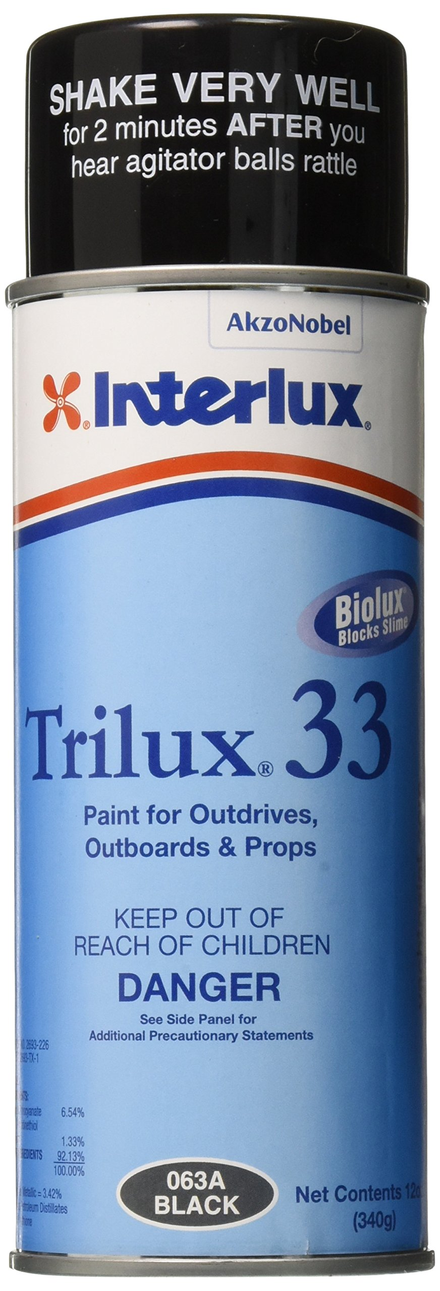 Interlux YBA063A/16 Aerosol Antifouling Paint (Black, 16 oz.) by Interlux