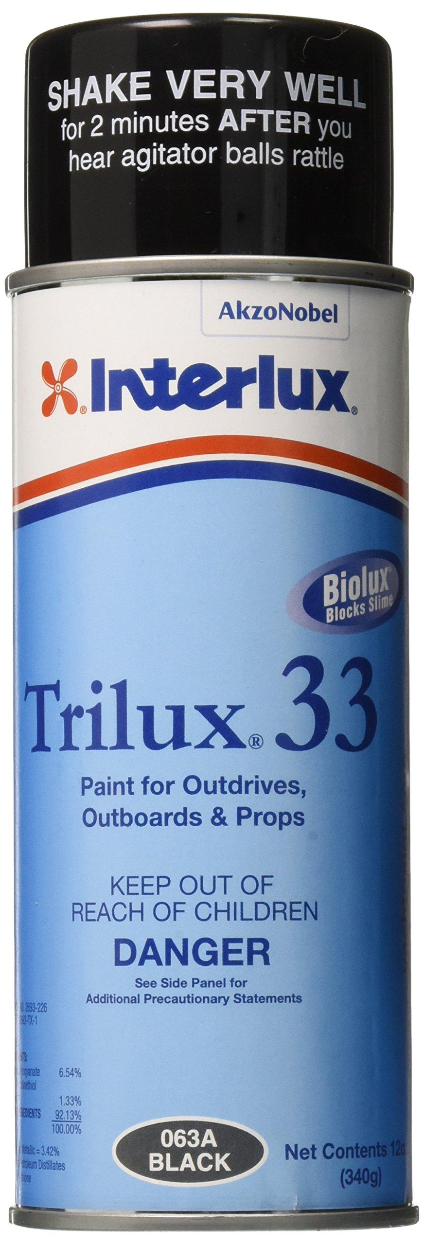 Interlux YBA063A/16 Aerosol Antifouling Paint (Black, 16 oz.)