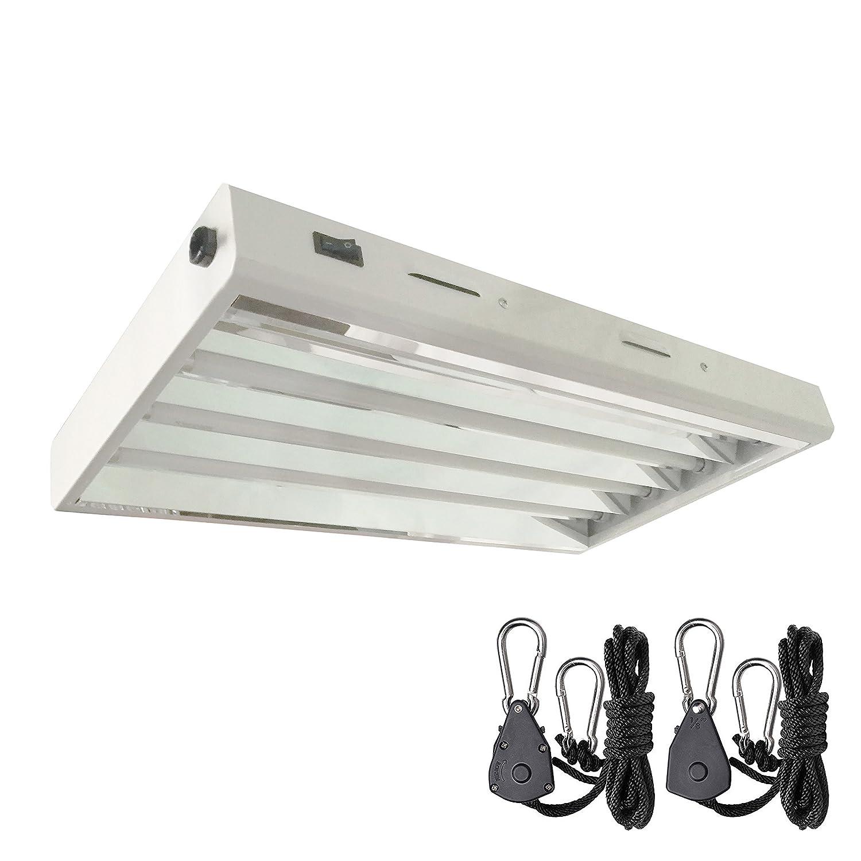 Hydro crunch 2 ft 4 bulb 96 watt t5 high output fluorescent grow light fixture
