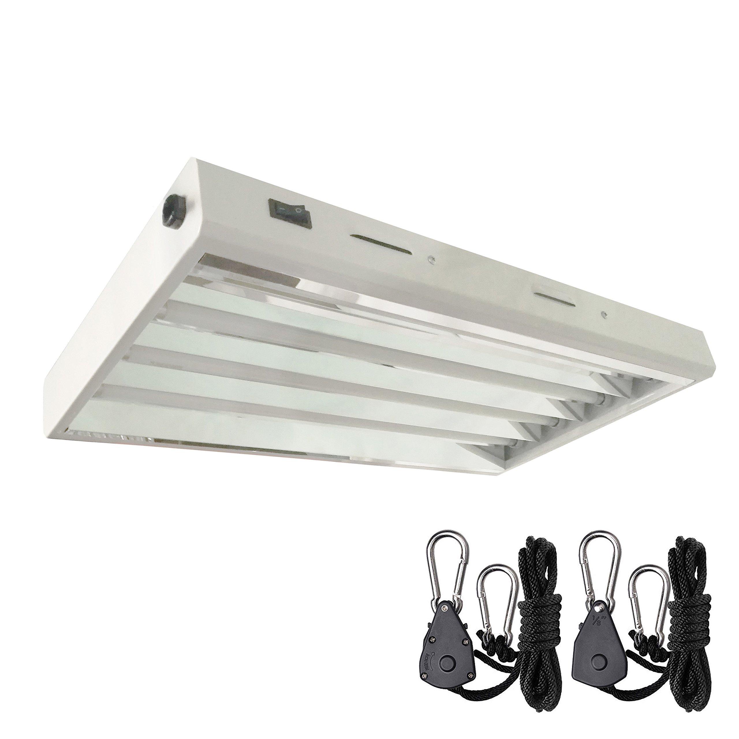 Hydro Crunch 2 ft. 4-Bulb 96-Watt T5 High Output Fluorescent Grow Light Fixture