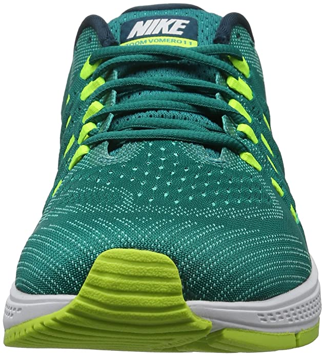 77ee5997532 Nike Men s Air Zoom Vomero 11 Rio Teal White Volt Clear Jade Running Shoe  12 Men US  Buy Online at Low Prices in India - Amazon.in