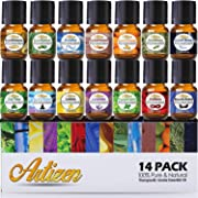Artizen Aromatherapy Top 14 Essential Oil Set (100% PURE & NATURAL) Therapeutic Grade Essential Oils - All of Our Most Popular Scents and Best Essential Oil Blends