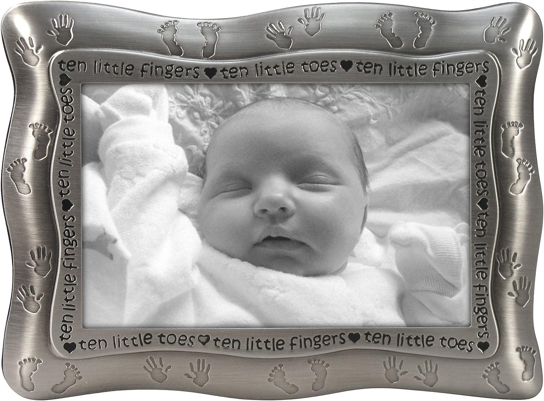 Malden International Designs Ten Little Fingers Silver Ten Little Toes Pewter Picture Frame 4x6