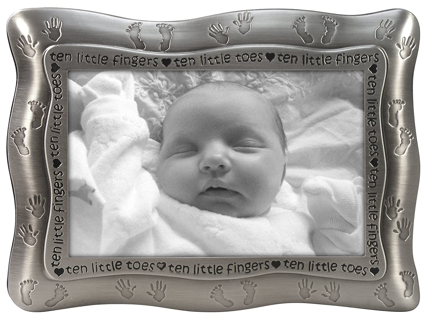 Malden Ten Little Fingers, Ten Little Toes Pewter Frame, Pewter Malden International 6977-46