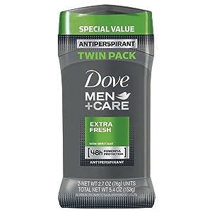 Dove Men+Care Antiperspirant Stick Extra Fresh 2.7 oz, Twin Pack