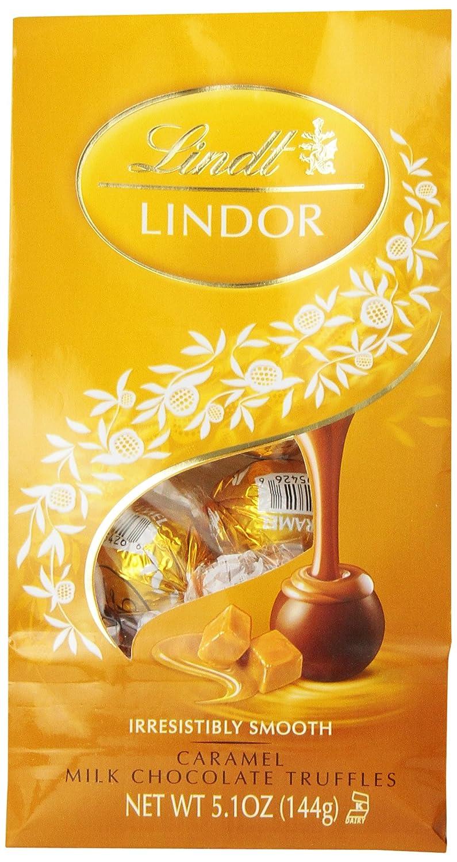 Amazon.com : Lindt LINDOR Caramel Milk Chocolate Truffles, 5.1 ...