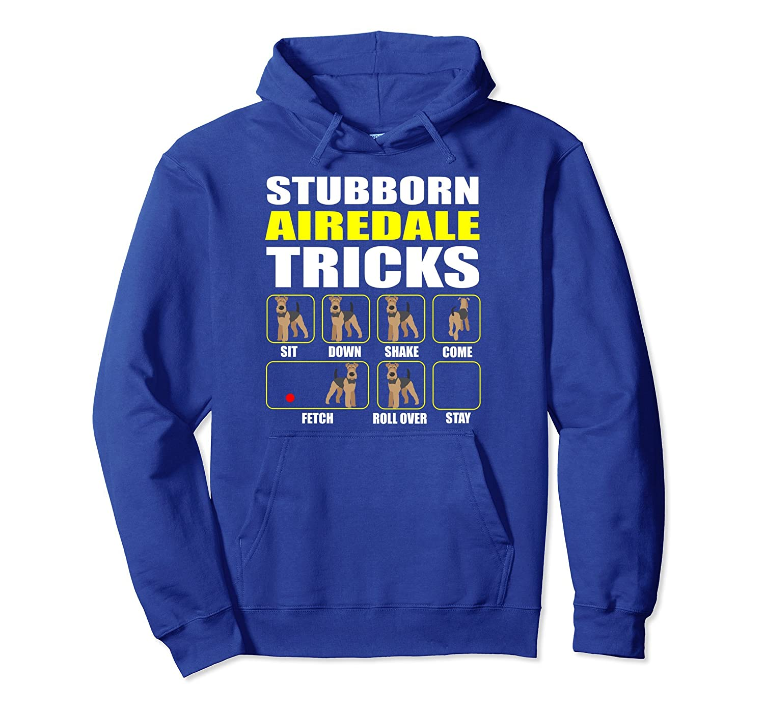 Airedale Terrier Pullover Hoodie Stubborn Airedale Tricks-mt