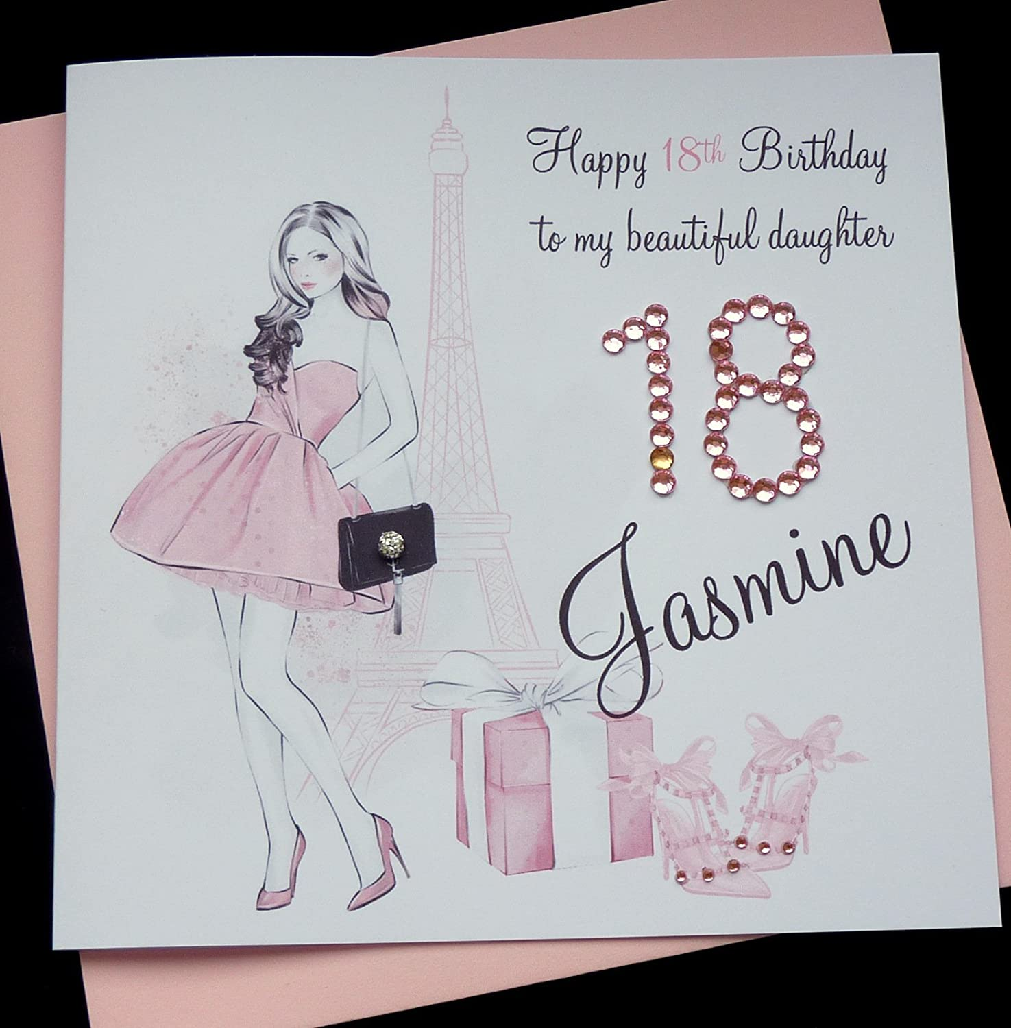Handmade Personalised Birthday Card Sister Friend Daughter Granddaughter Goddaughter 16th 18th 21st 30th Etc