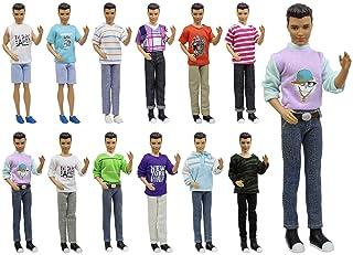 ZITA ELEMENT Vestiti Bambola Lot 5PZ Moda Esercito Soldato Casual Vestiti Abiti Per Barbie's BoyFriend Ken Barbie Bambole Doll Clothes Regalo di Natale - stile casuale
