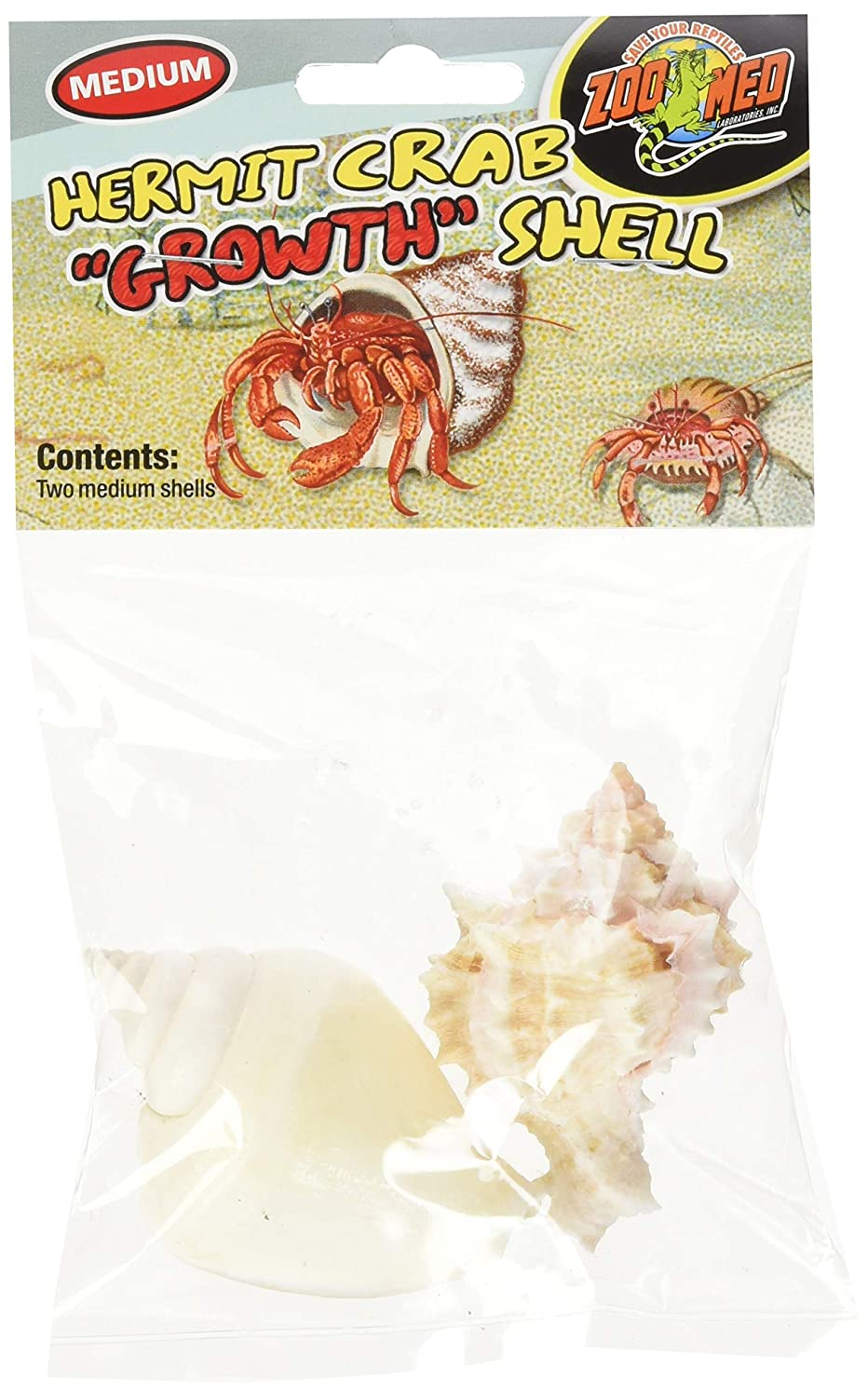 Zoo Med Hermit Crab Growth Shell, Medium, 2-Pack Zoo Med Laboratories HC36