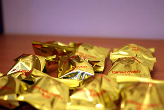 Gold Wrapped Fortune Cookies