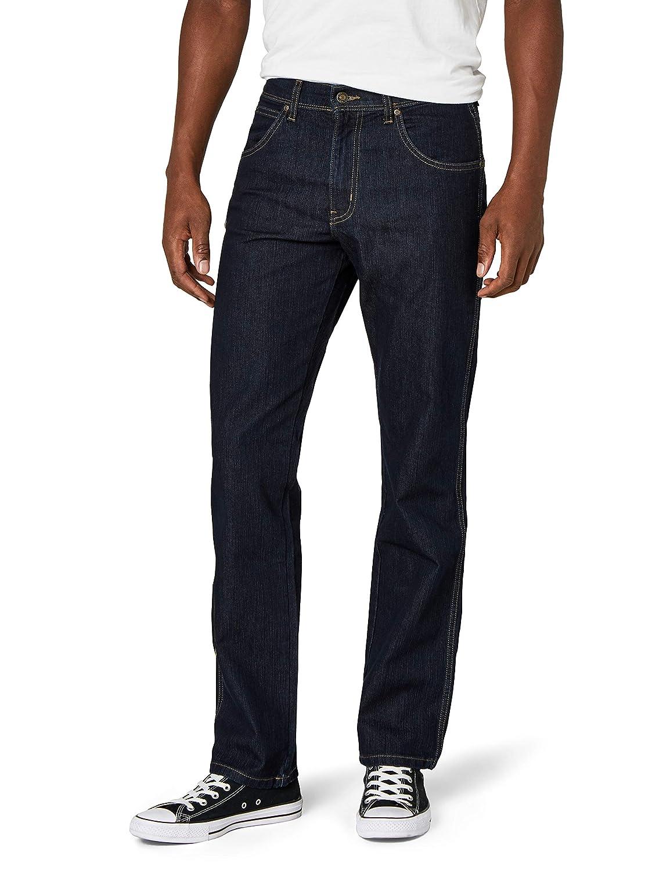 TALLA 38W / 30L. Wrangler Regular Fit Str Rinsewash Pantalones para Hombre