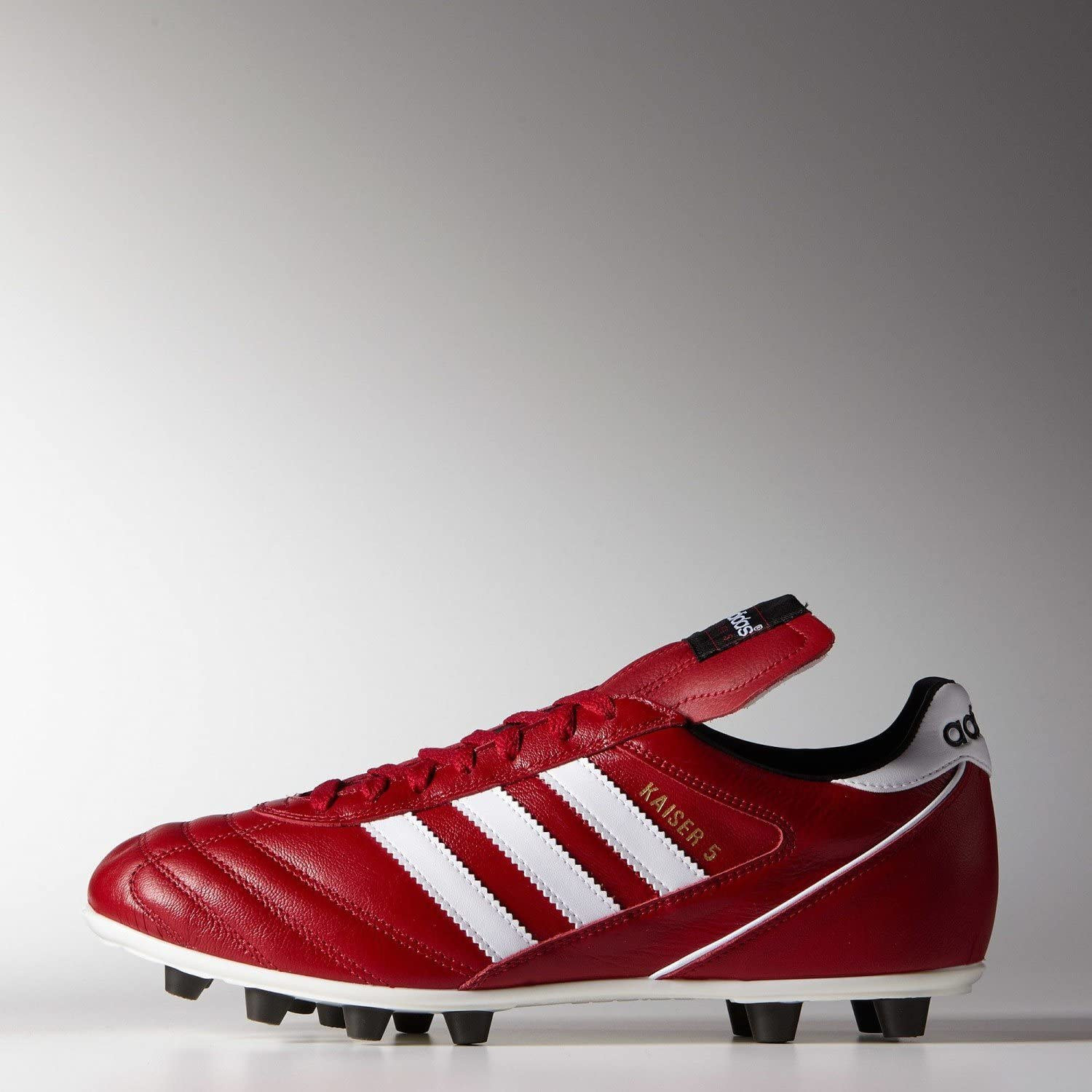 adidas Kaiser Moule Rouge Chaussures Football Moulées