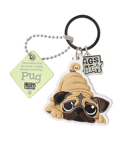 Wags et moustaches Carlin Porte-clés avec porte-clés/porte-clés (886767110707)