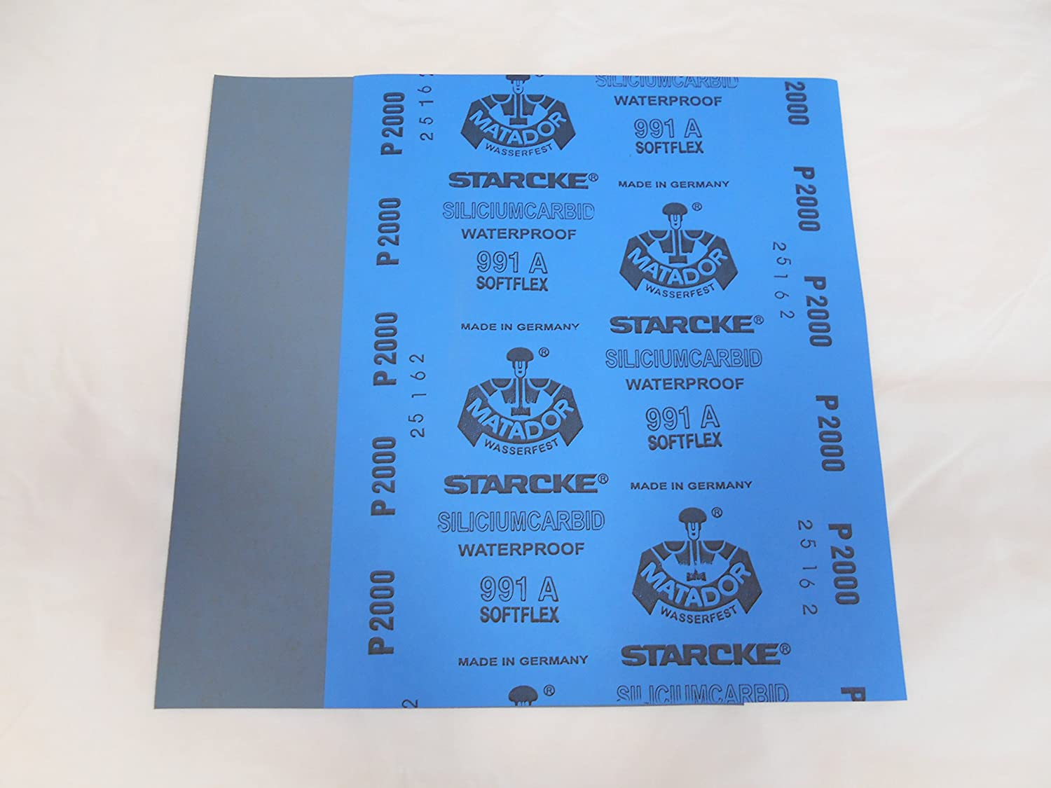 Starcke Matador Wet and dry sandpaper. A Weight 1 pack of 10 sheets 2000 Grit Starcke Abrasives