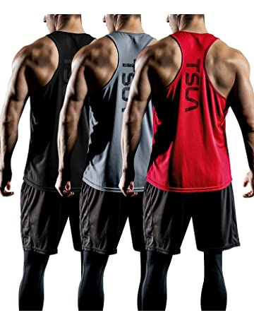 5c9aab66c62a0 TSLA 1~3 Pack Mens Gym Muscle Tank Sleeveless Training Cool Dry Top MTN33