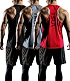 TSLA Men's 3 Pack Workout Muscle Tank Sleeveless