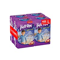 Huggies Pull-Ups Night Time Potty Training Pants for Boys, Large, 48 Pants