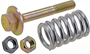 APDTY 14257 Exhaust Pipe to Catalytic Converter Spring Bolt Kit 1 Shoulder Bolt, 1 Jam Nut, 1 Spring and 1 Hex Nut; Replaces 18230-SA0-930, 18230-SV4-000, 18231-SB2-000 M8-1.25 x 59mm