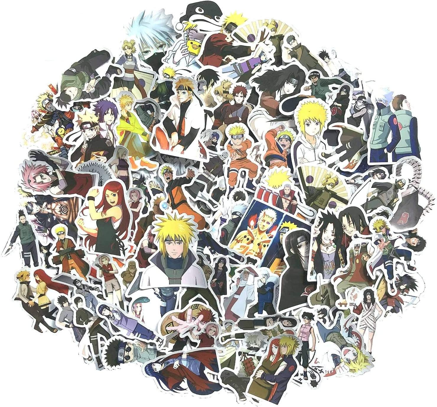 100 Pcs Naruto Stickers Anime Stickers