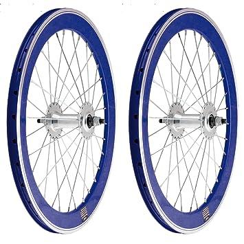 "2x Llanta Rueda para Bicicleta BMX GRAZIELLA de 20"" Fixed Aluminio con Piñon Fijo Color"