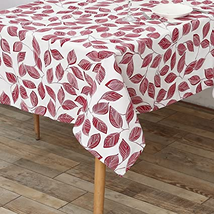 Exceptionnel LOHASCASA Heavy Duty Square Tablecloth Non Slip Spring Tablecloths For  Dining Room Red 55 X 55