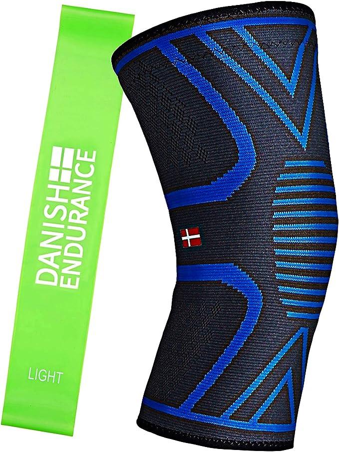Genouillère de Compression de DANISH ENDURANCE, pour hommes & femmes, bandage de soutien de genou pour les sports, crossfit, basketball, récupération de blessure...