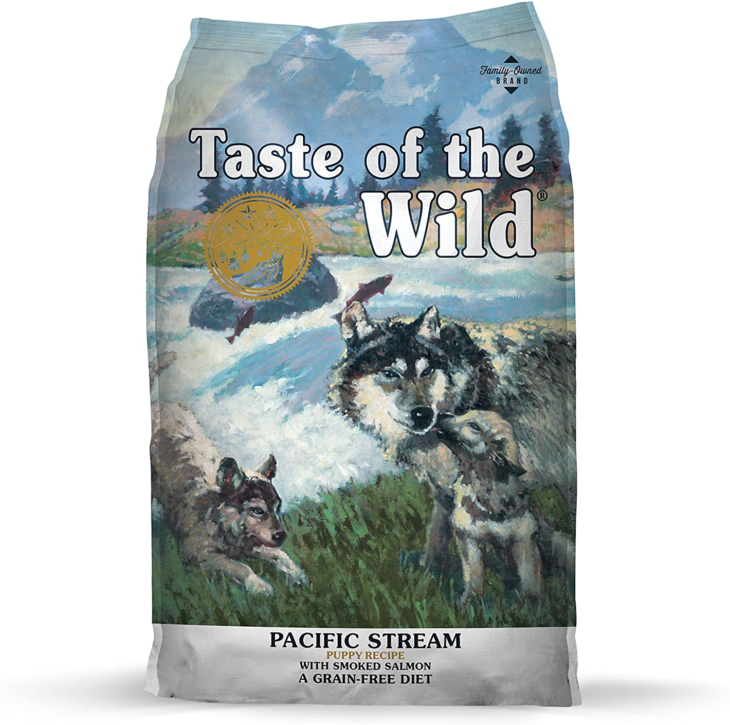 Taste of The Wild Grain Free Premium High Protein Dry Dog Food Pacific Stream Puppy – Smoked Salmon