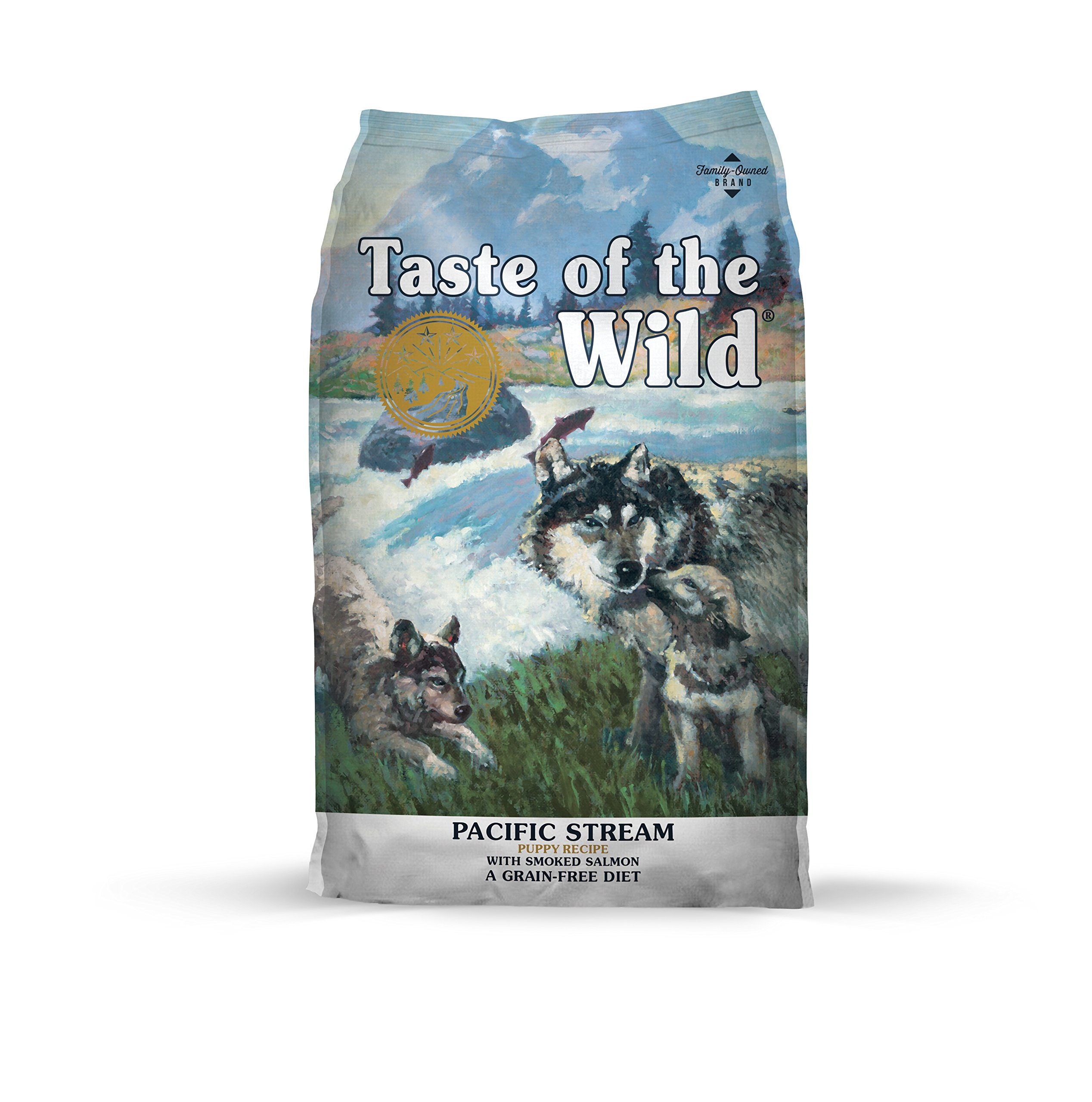 Taste of the Wild Grain Free High Protein Real Meat Recipe Pacific Stream Puppy Premium Dry Dog Food by Taste of the Wild