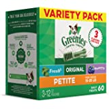 Greenies Dog Dental Chews Dog Treats - Variety Pack (3) 12 oz Packs, Makes a Great Holiday Gift for Your Dog