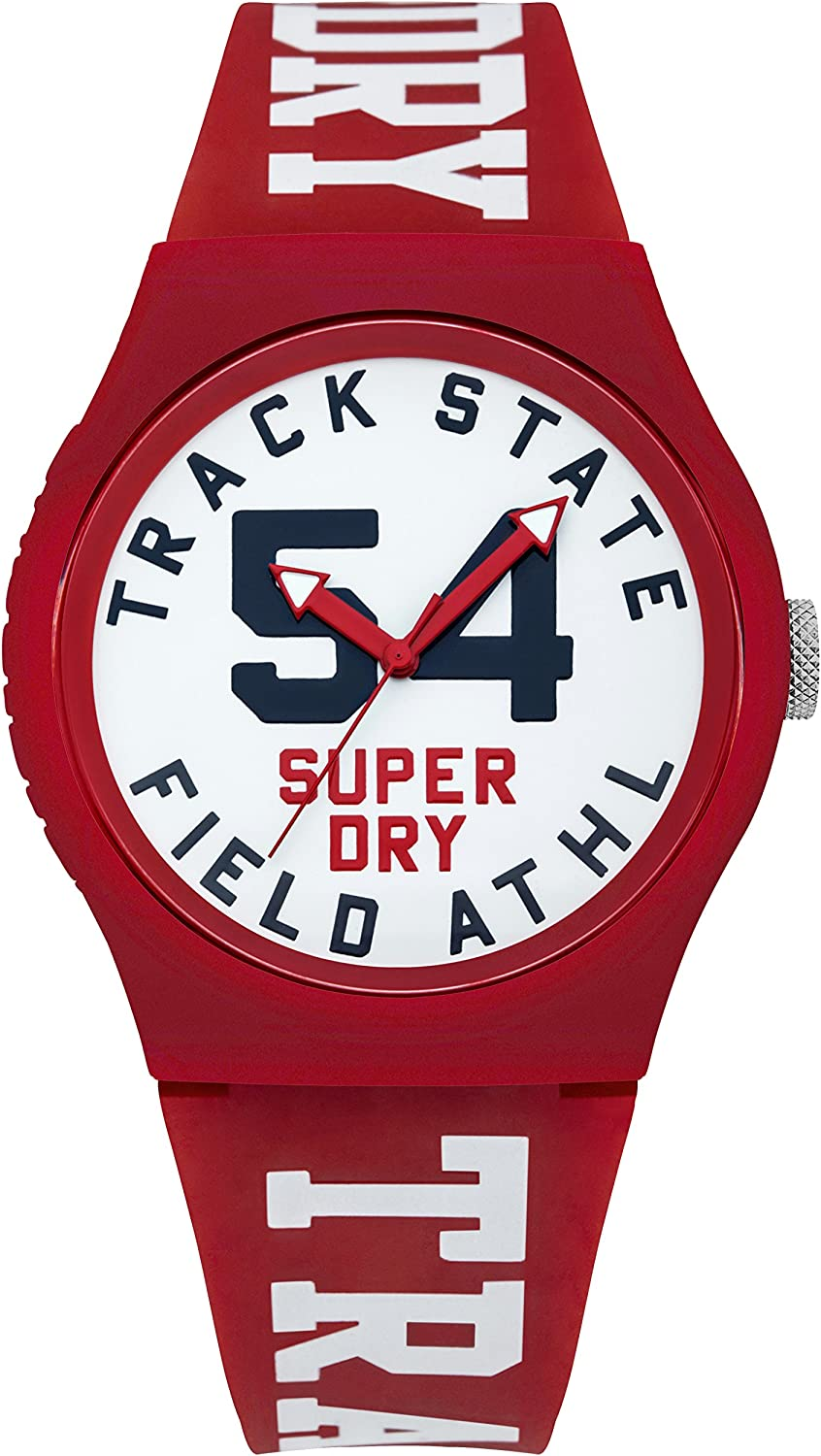 Superdry Urban Quartz Watch with Silicone Strap, White, 18 Model SYG182WR